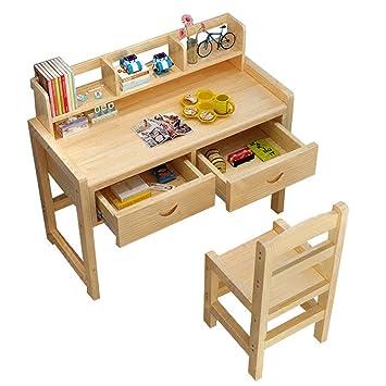 Schultisch mit stuhl  Amazon.de: Esstisch Höhenverstellbar Kinder Studie Schultisch und ...