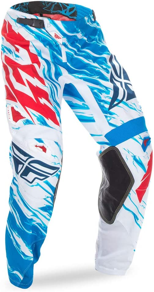 Fly Racing Unisex-Adult Kinetic Relapse Pants Red//White//Blue, Size 36