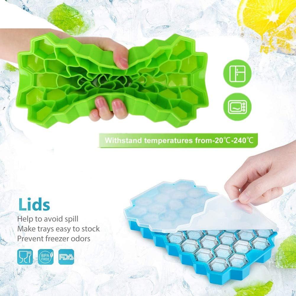 SKY TEARS Eisformen 10 Eisformen Popsicle Formen Set Party Eislutscher Popsicle Formen aus Silikon Mini Eisform f/ür Kinder Family
