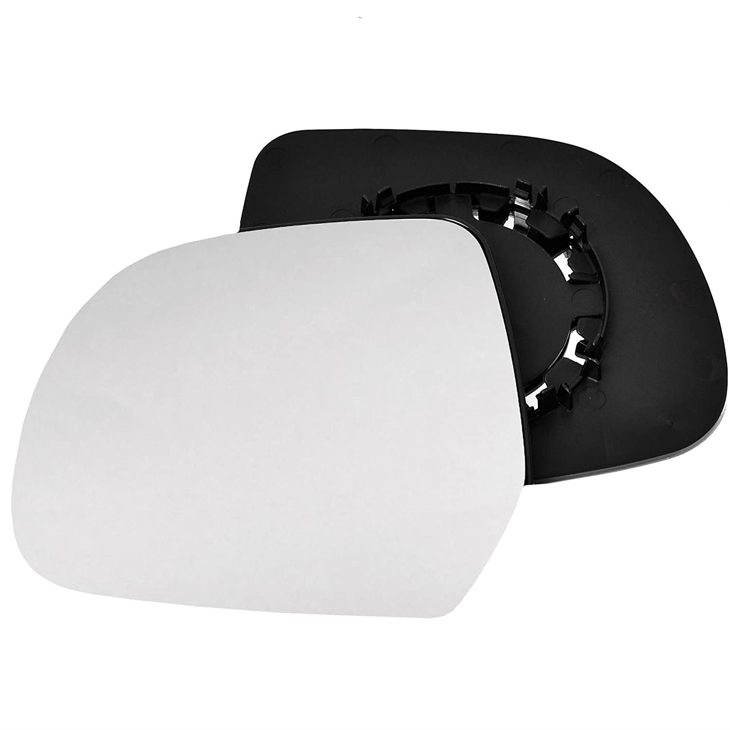 Clip On Passenger left hand side wing door Silver mirror glass with backing plate #C-SN//L-DADSR00
