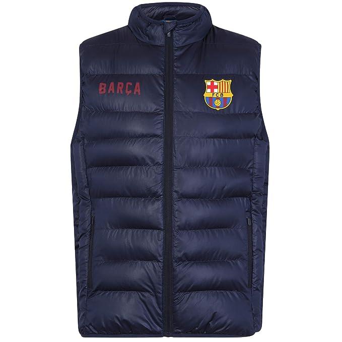 FC Barcelona - Chaleco acolchado oficial - Para hombre: Amazon.es: Ropa y accesorios