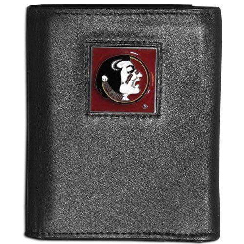 Credit State Card Florida (NCAA Florida State Seminoles Leather Tri-Fold Wallet)