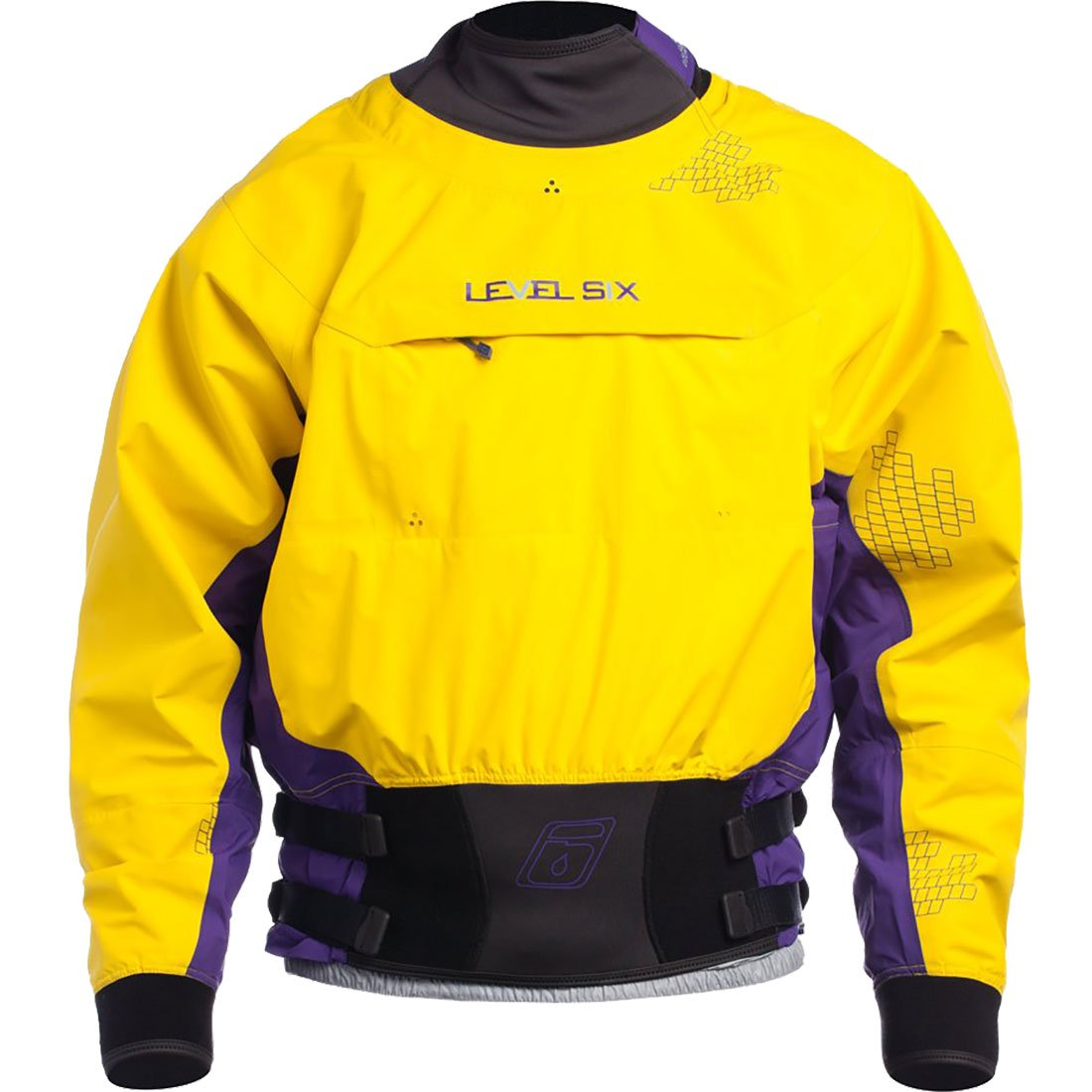 Level Six Nebula Long sleeve Dry Top,Bright Yellow,Large by Level Six