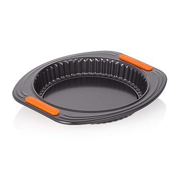 Le Creuset - Molde para Quiche/Flan Tin de Acero al Carbono, 20 cm, Color Negro: Amazon.es: Hogar