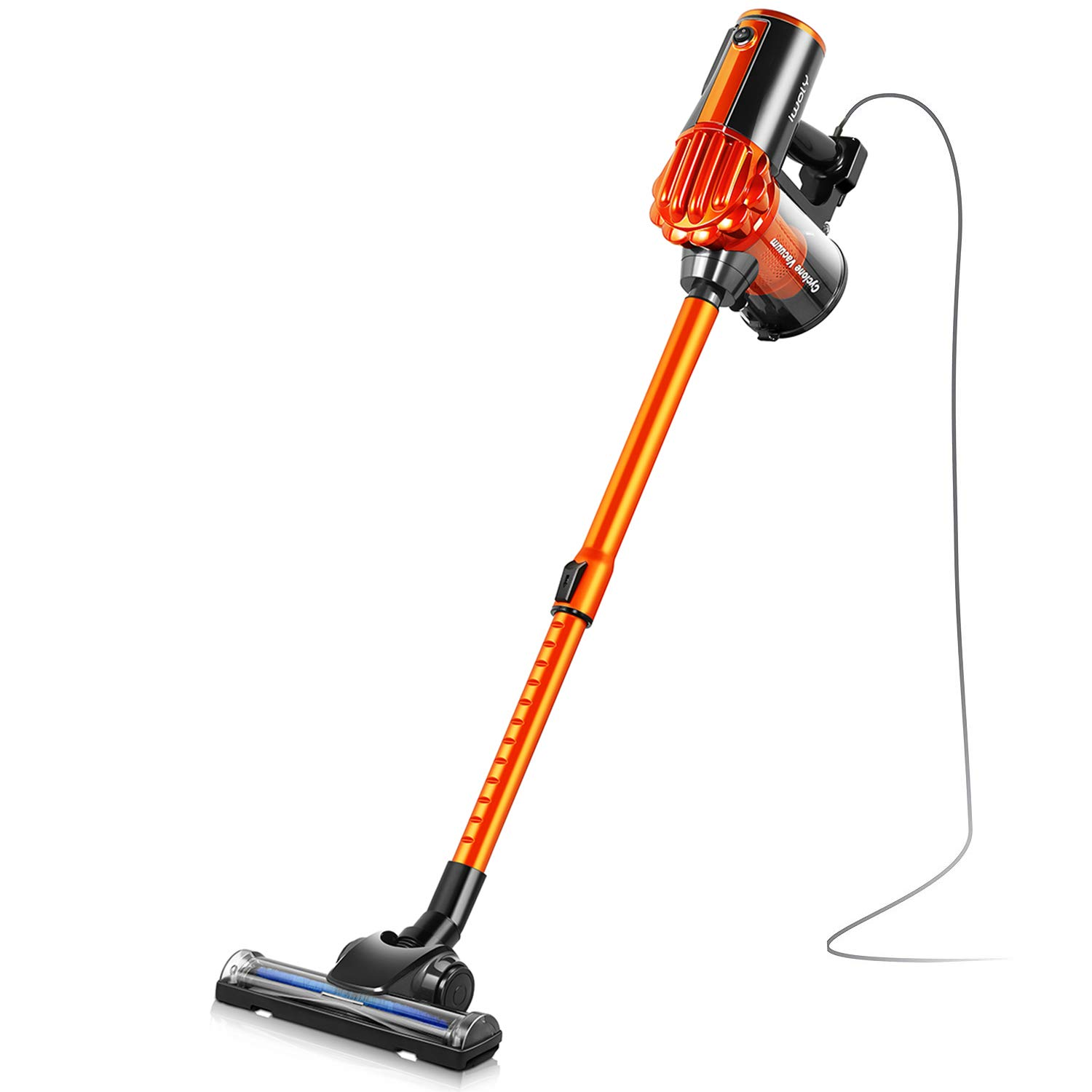 iwoly V600 Vacuum Cleaner 600W Lightweight Corded Bagless Stick and Handheld Vacuum with Cyclone HEPA Filtration by iwoly