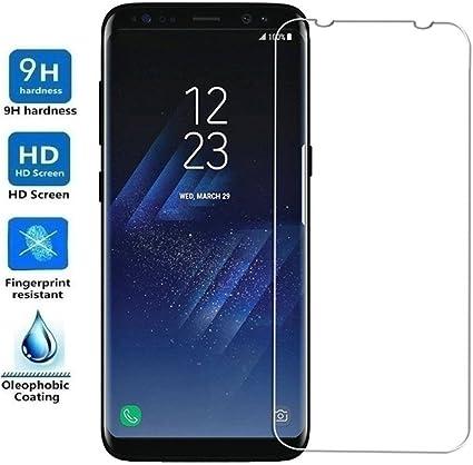 REY Protector de Pantalla para Samsung Galaxy S8 Plus, Cristal ...