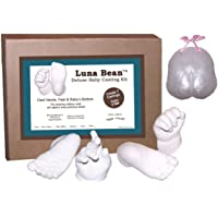 Luna Bean Deluxe 3D Prints Baby Casting Kit - Mold and Cast Infant Foot and Hand (Bronze)