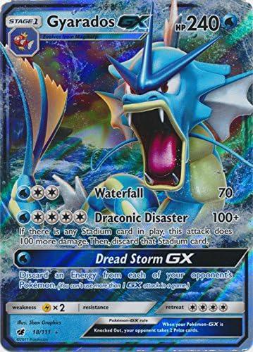 Gyarados GX 18//111 SM Crimson Invasion Ultra Rare Holo Pokemon Card MINT TCG