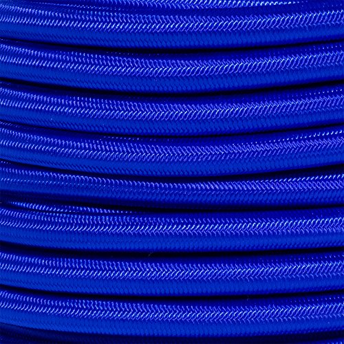 Inch Elastic Bungee Nylon Shock Cord Stretch String Crafting - Various Colors - 10, 25, 50 & 100 Foot Lengths - Made in USA ()