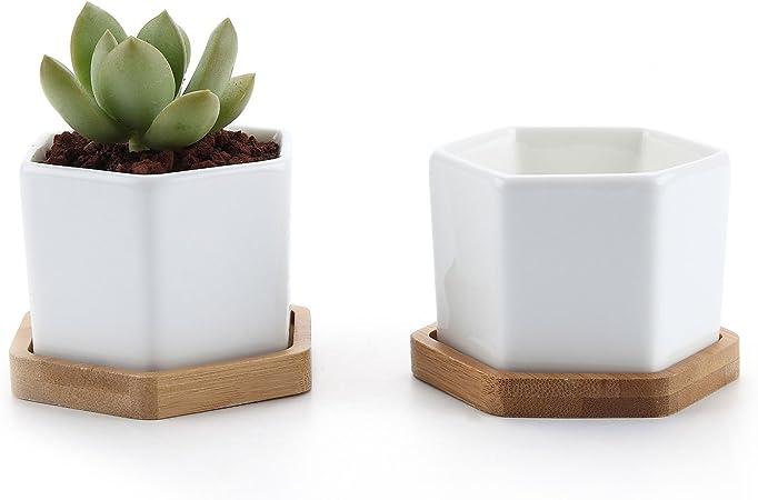 Set of 4  White Rectangle Window Pot Dollhouse Miniatures Deco Garden