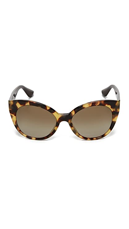 Amazon.com: Miu Miu Womens Cat Eye Sunglasses, Light Havana ...
