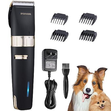 Pixnor Cortaúñas Profesional Perros, con bajo Nivel de Ruido para Mascotas, Cuchillas Desmontables,