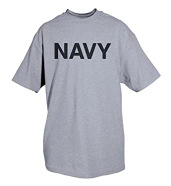 Amazon.com  AMS Mens U.S. Navy P T Physical Training T-Shirt ... 6e837670d0f