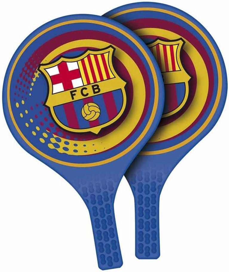 Futbol Club Barcelona- Juego de Palas de Playa con Pelota (Mondo ...