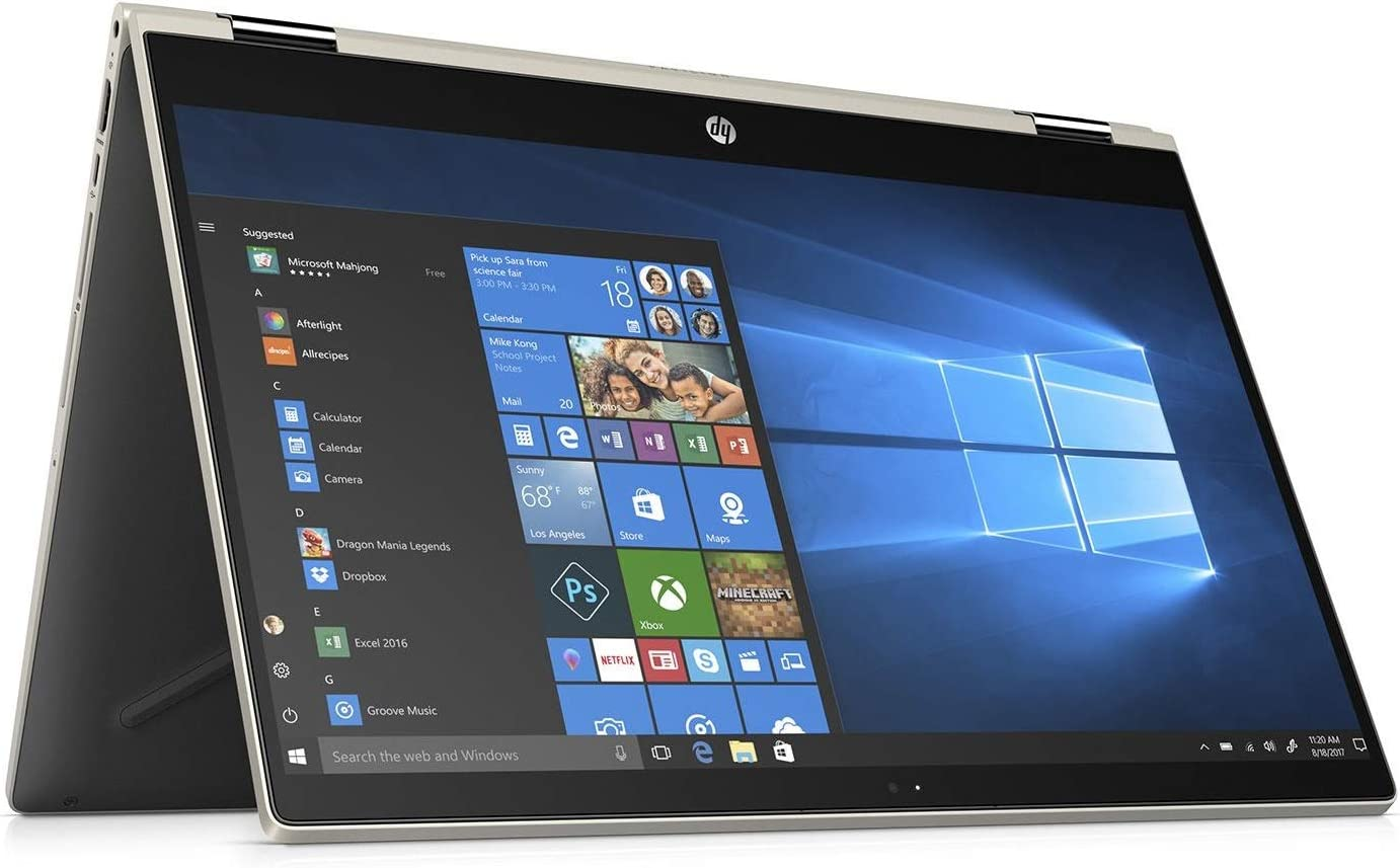 """HP High Performance 2-in-1 Convertible Laptop, 15.6"""" FHD Touch-Screen IPS Display, Latest Intel Quad-Core Processor, 24GB RAM Memory, 1TB HDD, Bluetooth, 802.11AC, Windows 10"""