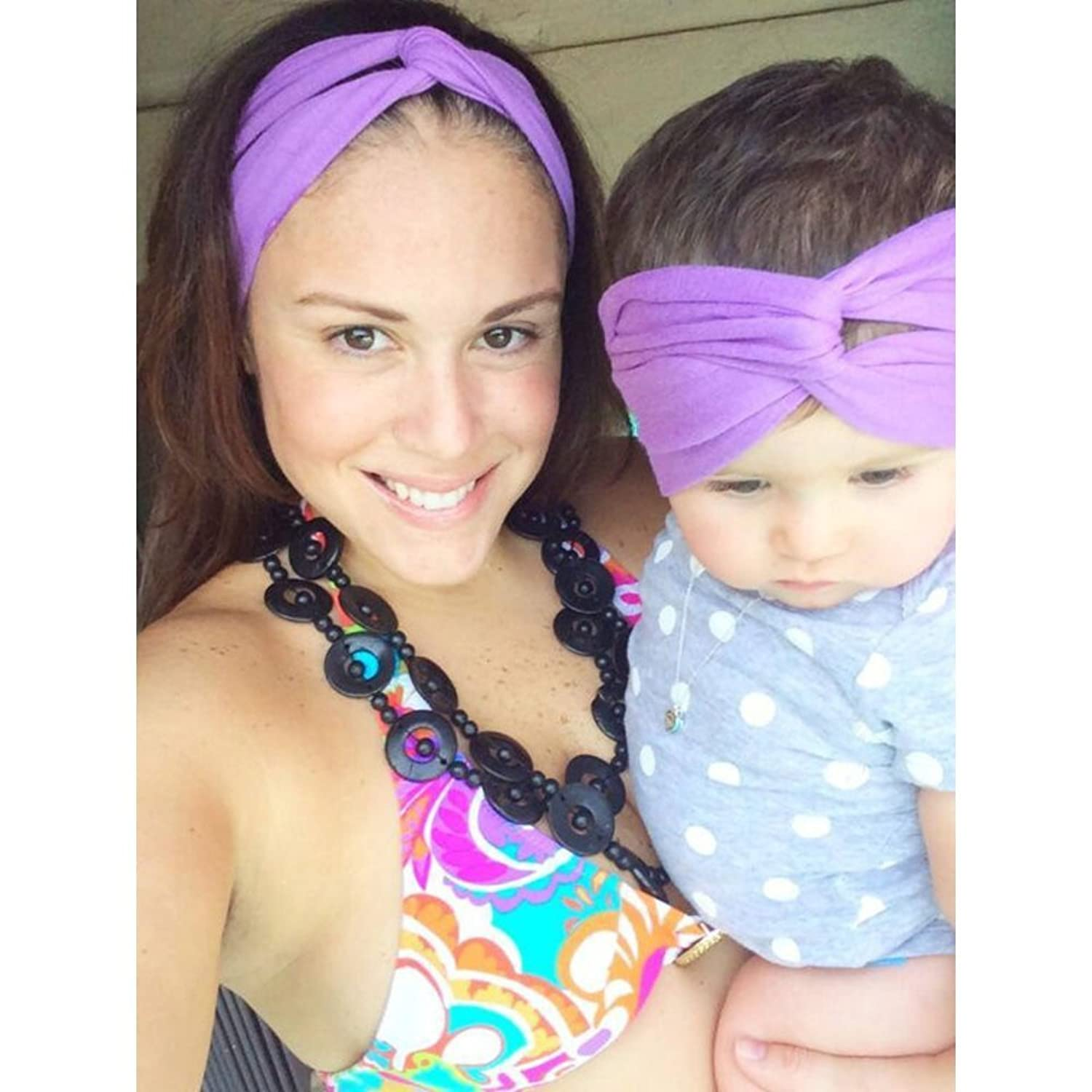 Mommy and Me Turban Headband in Lilac Love