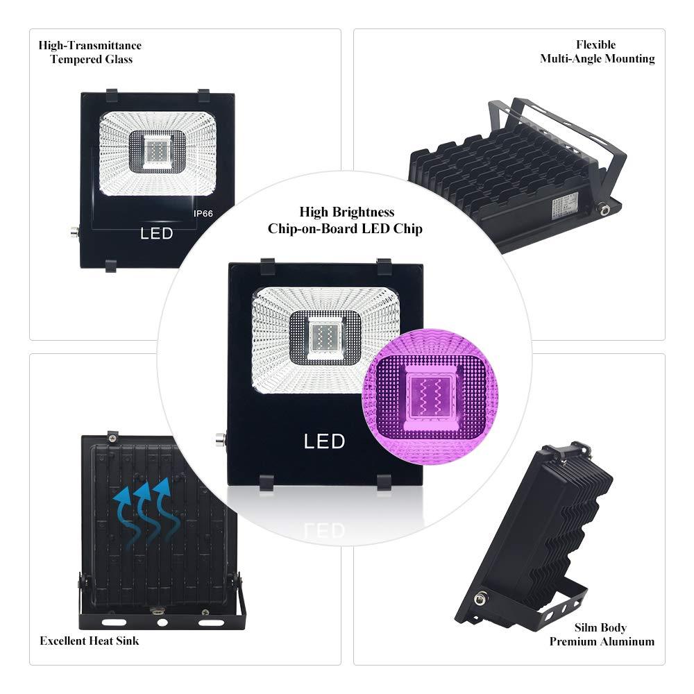 Amazon.com: HOPEMATE - Linterna UV para exteriores (2 x 20 W ...