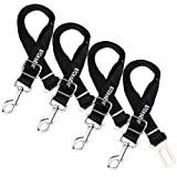 Amazon Price History for:Vastar 4 Pack Adjustable Pet Dog Cat Safety Leads Car Vehicle Seat Belt Pet Harness Seatbelt, Made from Nylon Fabric