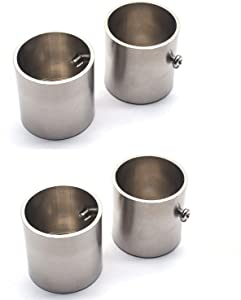 """Tulead Stainless Steel Flange Rod Mounting Bracket Flange Bracket Socket Flange Wall Flange 1.3"""" Diameter Pack of 4"""