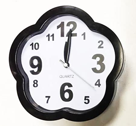 new small quartz wall clock free standing with alarm clock bedroom clock black - Bedroom Clock