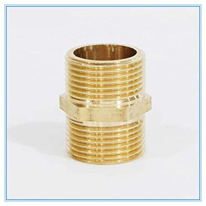 """1//8/"""" 1//4/"""" 3//8/"""" NPT Hex Nipple Reduer Brass Pipe Fitting Connector Adapter"""