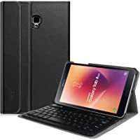 ABOUTTHEFIT Keyboard Case for Samsung Galaxy Tab A 8.0 2017 Model T380 / T385, Smart Slim Shell Stand Cover with Detachable Wireless Bluetooth Keyboard for Galaxy Tab A 8.0 2017 SM-T380 / T385, Black