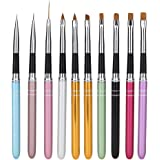 Jocestyle 10 Pcs Nail Art Design Dotting Painting Drawing Pen Polish Brush Set UV Gel Nail Beauty Tool Kit