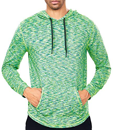 Men's Lightweight Pullover Hoodie - Hooded Long Sleeve Workout Shirts