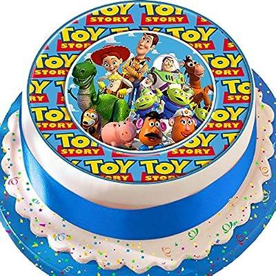 Toy Story Woody, Jessie, Buzz y amigos 7,5 pulgadas troquelada comestible decoración para tarta para glaseado decoración
