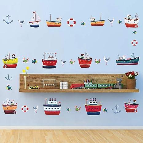 SOSO Tatuajes de pared Barcos náuticos Pegatinas de pared Anclas ...