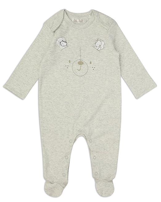 The Essential One - Bebé Pijamas Tipo Pelele Orejas de Oso - Gris - TESS10: Amazon.es: Ropa y accesorios