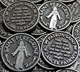 Set of 10 Saint Peregrine Patron of Cancer Patients Pocket Token Coins