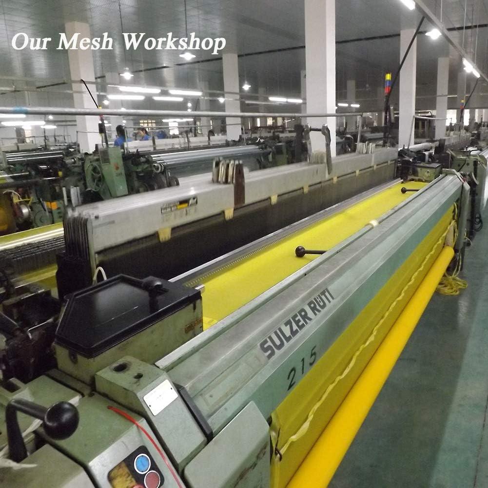 Mesh Screen Printing,Polyester Silk Screen Printing Mesh,Screen Printing Screen,Silk Screen Printing Mesh for Silk Screen for Ovalprinting PCB and Tshirt Printing/…