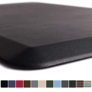 GORILLA GRIP Original Premium Anti-Fatigue Comfort Mat, 60x20, Phthalate Free, Ergonomical, Extra Support and Thick, Laundry, Kitchen, and Office Standing Desk Mats, Black