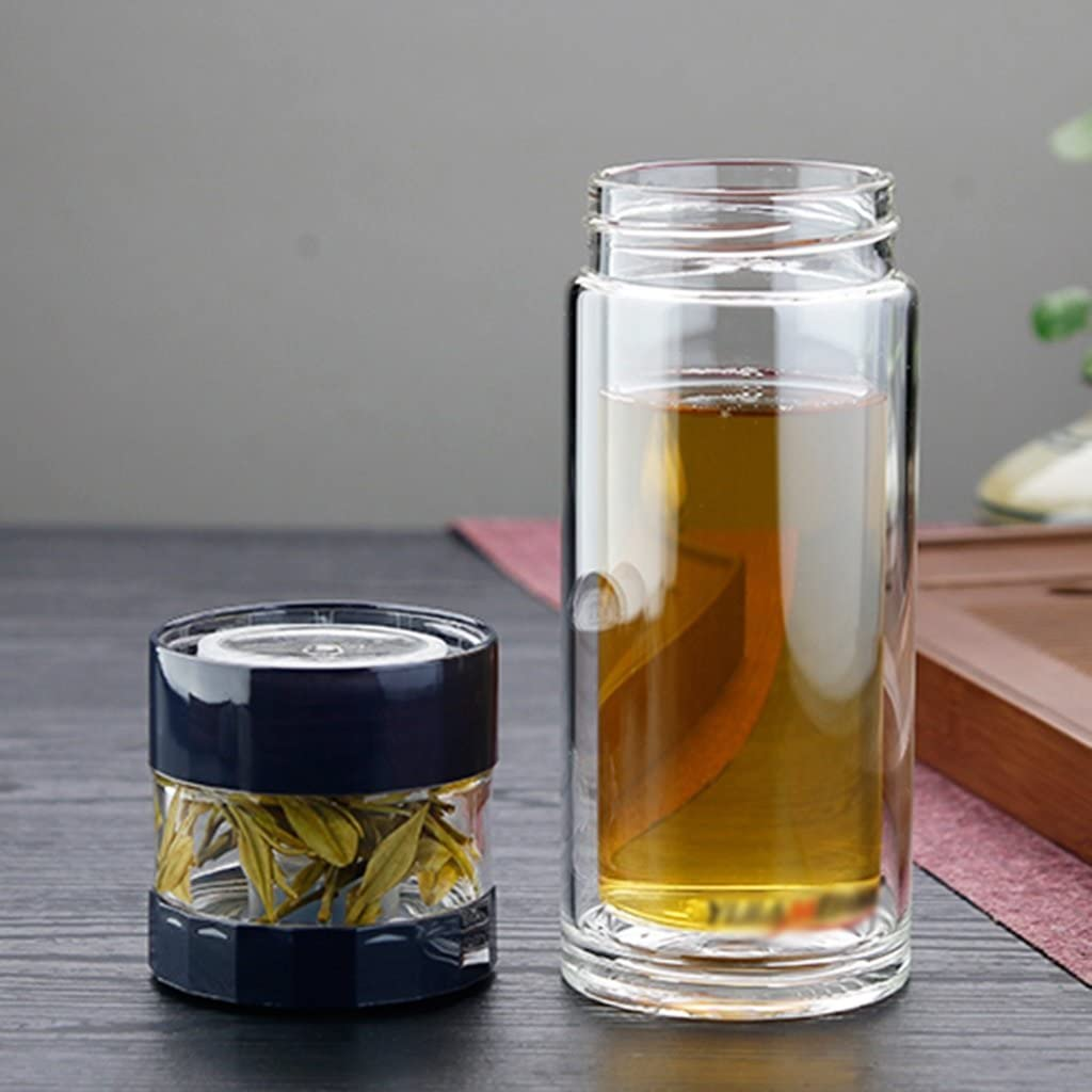 Vasos para té y café Taza Vidrio Botella Termo de Viaje de vacío de los niños vacío Aislamiento Oficina Negocios Familia Regalo Leche café té 300ml (Color : Blue): Amazon.es: Hogar
