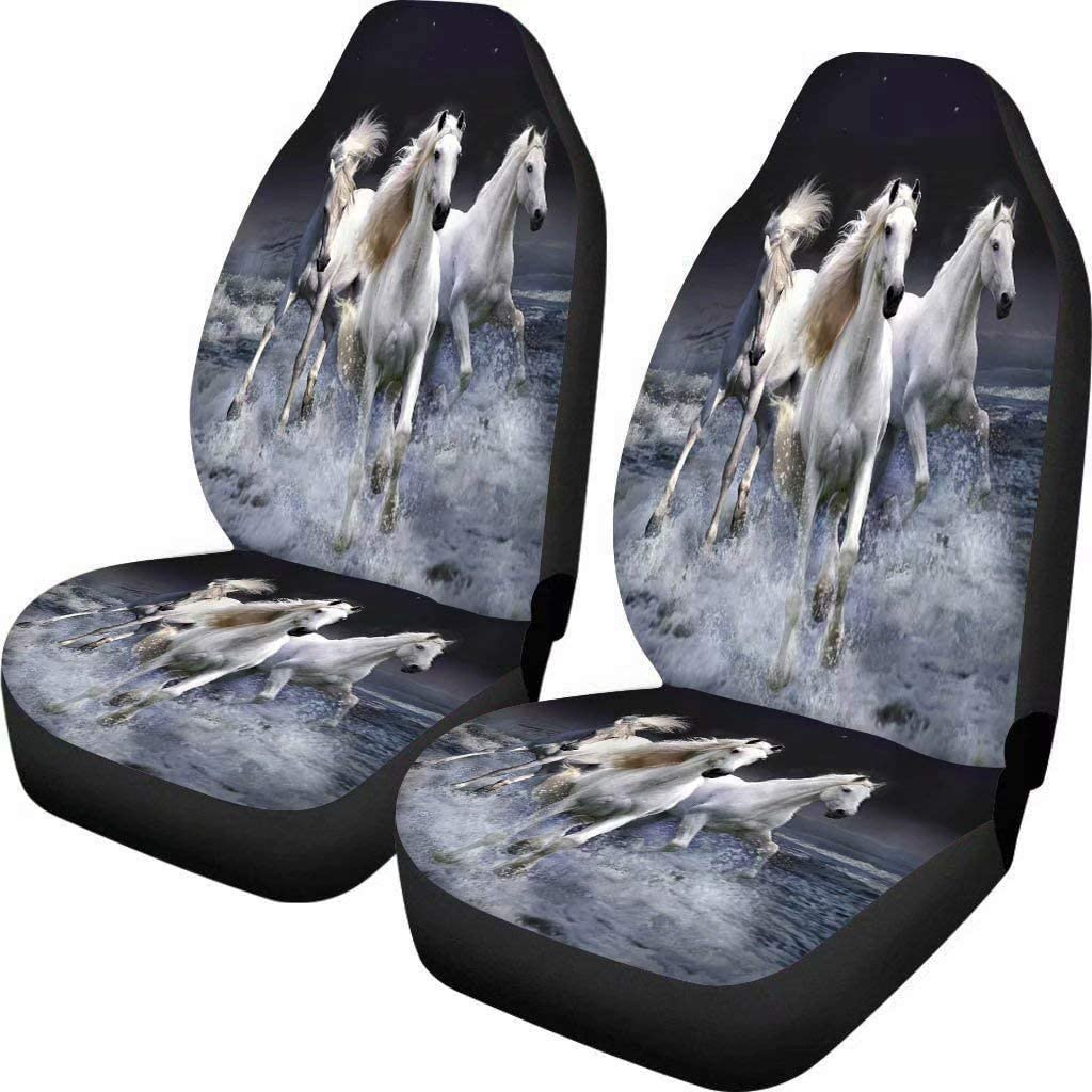 Micandle Elephant Seat Covers for Car Front Saddle Blanket Comfort Covers Trendy Print Bucket Seat Cover Universal Car Accessories for Truck Van SUV Pack of 2