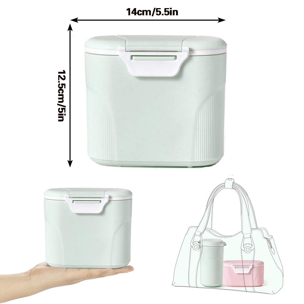 Gr/ün (small) Sunshine smile milchpulver aufbewahrung,Milchpulver-Spender,Tragbarer Baby Milchpulver Beh/älter,milchpulver container mit Gleichmacher 600ML//280ML