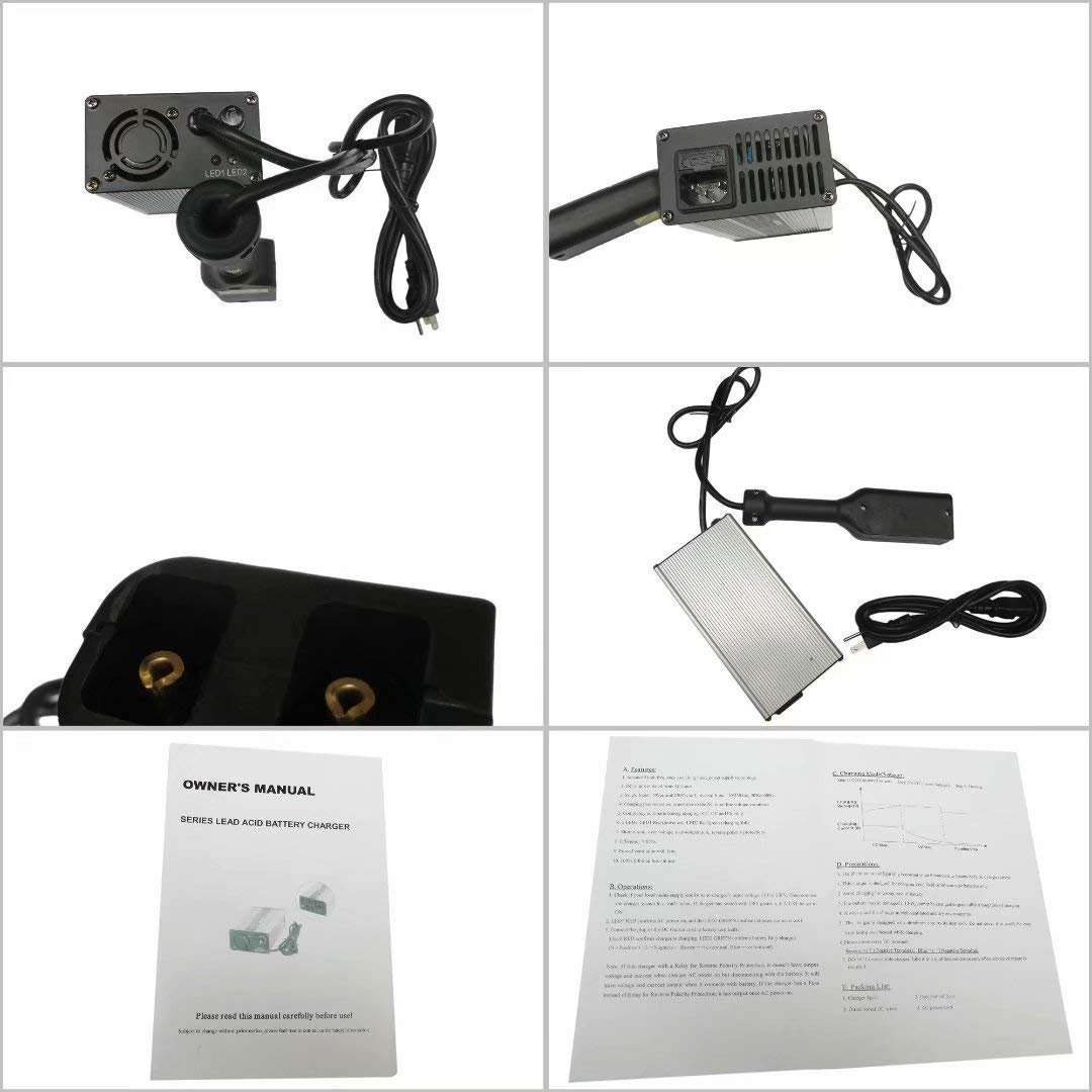 NEW 36V EZ-GO Powerwise 36 Volt TXT Medalist Golf Cart Battery Charger''D'' Style by JEM&JULES (Image #6)