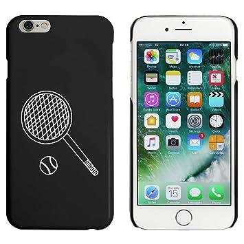 Azeeda Negro Raqueta de Tenis y Pelota Funda / Carcasa para iPhone 6 y