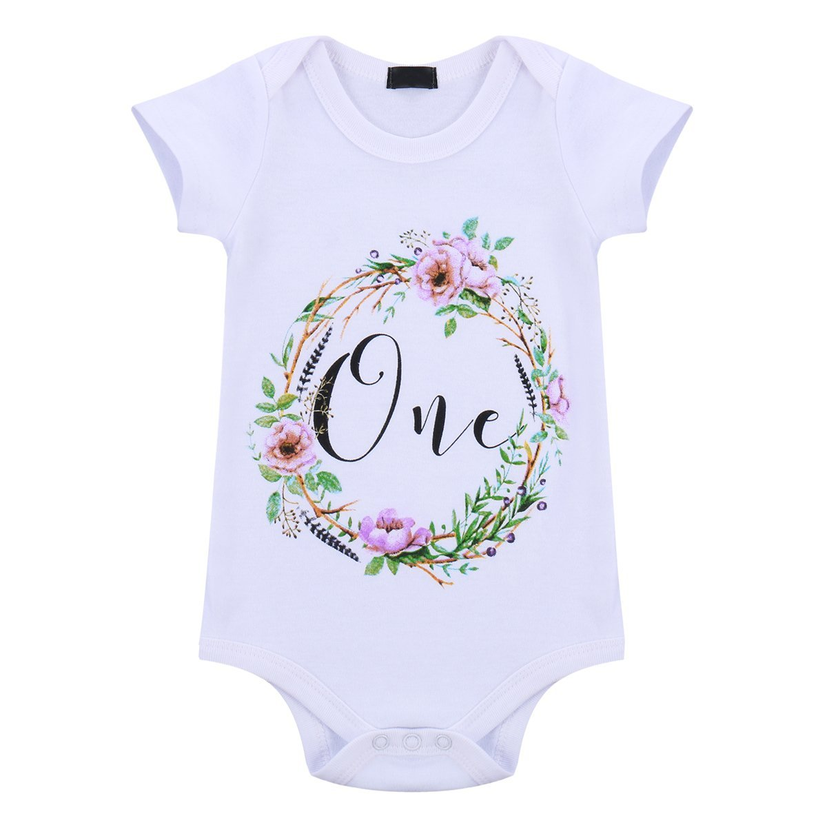 Baby Girls Flower One Year 1st Birthday Outfit Sequin Bowknot Princess Party Birthday Dress Newborn Infant Toddler Kids Floral Romper Tutu Skirt Headband 3PCS Cake Smash Outfits Photo Shoot Costume