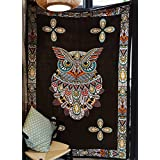 "Owl Tapestry Wall Decor Owl Wall Hanging Fabric Wallpaper Home Decor,60""x 80"",Twin Size"
