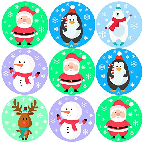 144 Christmas Friends 30mm Children's Reward Stickers for Parents, Teachers Sticker Stocker