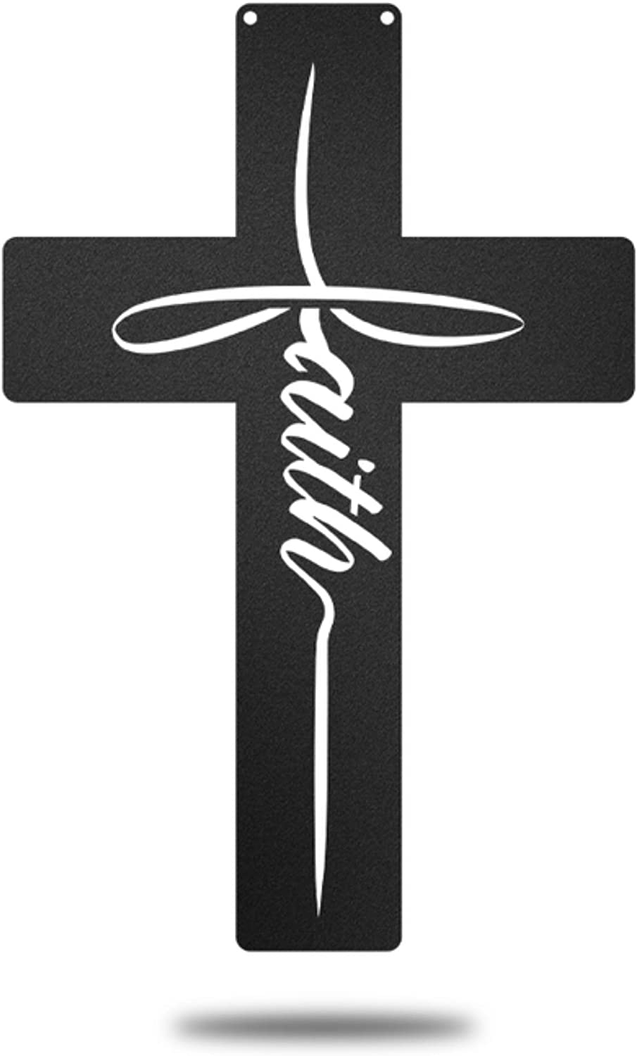 Redline Steel Cross Wall Decor - Conviction Cross Art for Home, Kitchen, Prayer Room (Black)
