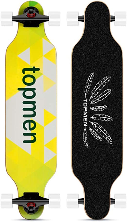 LAKVEE Longboard,Stake Longboard for Beginer and Professional,High-end Design 41-Inch Downhill,9 Ply Canadian Maple Cruiser for Cruising,Free-Style