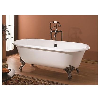 Cheviot Regal Cast Iron Claw Foot Bathtub White / White With Antique Bronze  Feet   Clawfoot Bathtubs   Amazon.com
