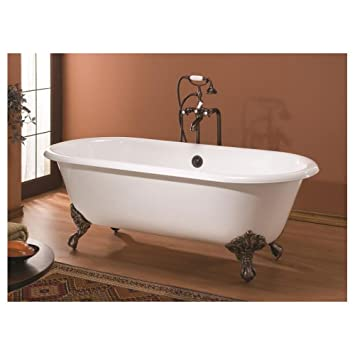 Cheviot Regal Cast Iron Claw Foot Bathtub White White With Antique