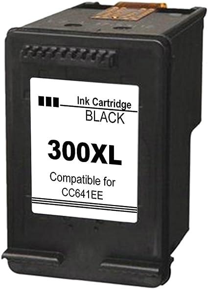 Cartucho de tinta regenerado 300XL compatible con Impresoras HP 300/300 XL Deskjet/photosm: Amazon.es: Oficina y papelería