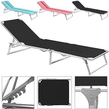 chaise longue pliable rose ray transat bain de soleil jardin plage bronzer - Transat De Plage Pliable