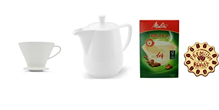 Juego de café 1 - 4 personas: Melitta filtro de café + Café Tetera ...