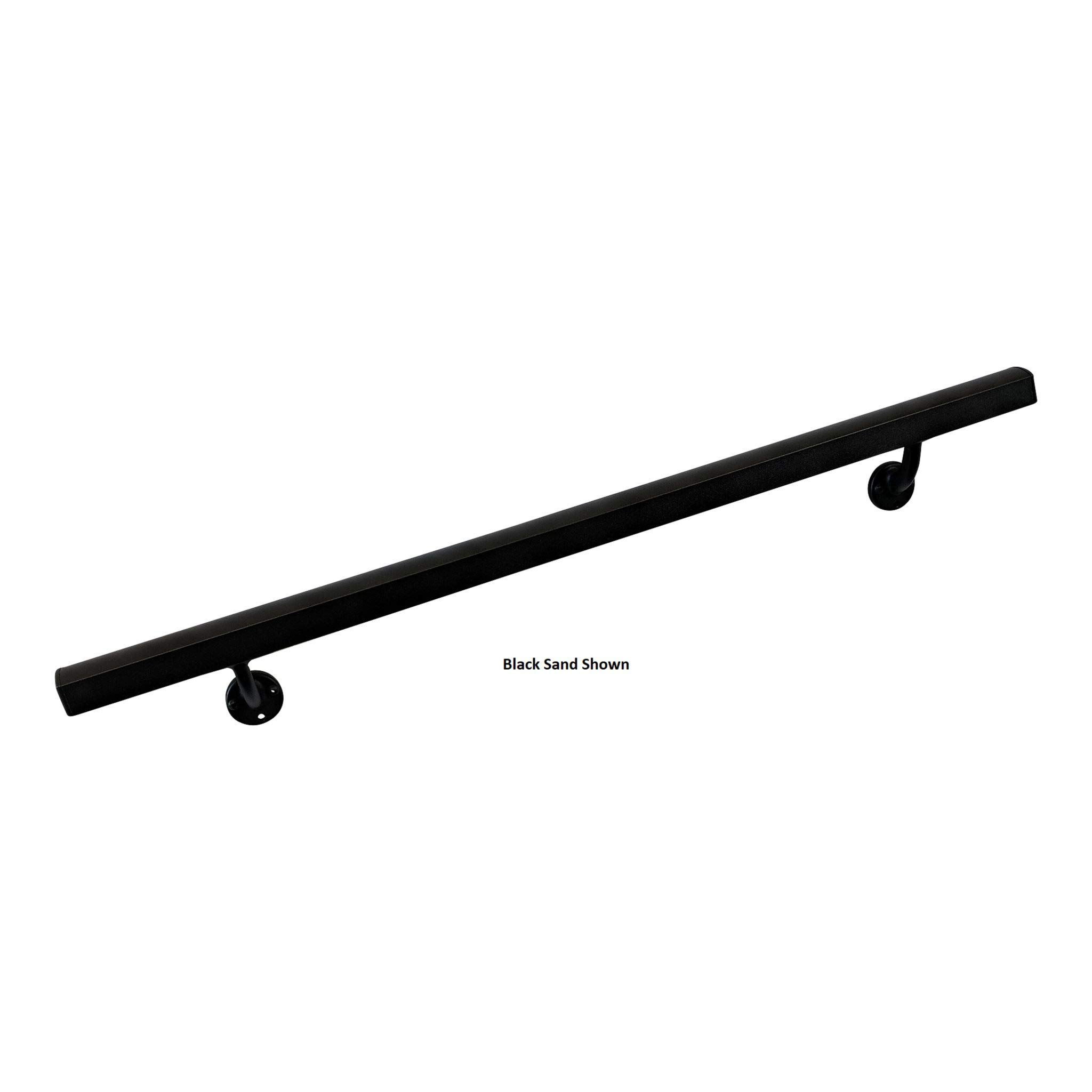 Aluminum Handrail Direct AHR 3' Handrail Section with mounts - White Sand Texture